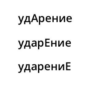 Таблица ударения глаголов